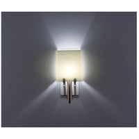 WPT Design DESSY1/8-D-SN/WH Dessy One / 8 1 Light 14 inch Stainless Steel ADA Wall Sconce Wall Light in Snow White Double Glass