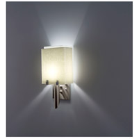 WPT Design DESSY1/8-D-SN/WH Dessy 1 Light 14 inch Stainless Steel ADA Wall Mount Wall Light in Snow White