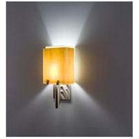 WPT Design DESSY1/8-D-TF/SN Dessy 1 Light 14 inch Stainless Steel ADA Wall Mount Wall Light in Toffee Snow