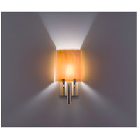 WPT Design DESSY1/8-D-TF/TF Dessy One / 8 1 Light 14 inch Stainless Steel ADA Wall Sconce Wall Light in Toffee Double Glass