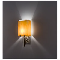 WPT Design DESSY1/8-D-TF/WH Dessy 1 Light 14 inch Stainless Steel ADA Wall Mount Wall Light in Toffee White