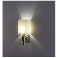 WPT Design DESSY1/8-D-WH/SN Dessy 1 Light 14 inch Stainless Steel ADA Wall Mount Wall Light in White Snow
