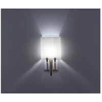 WPT Design DESSY1/8-D-WH/WH Dessy One / 8 1 Light 14 inch Stainless Steel ADA Wall Sconce Wall Light in White Double Glass