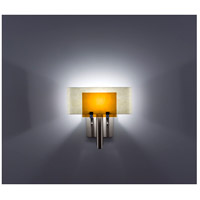 WPT Design DESSY1-AM/CVSN Dessy One 1 Light 11 inch Stainless Steel ADA Wall Sconce Wall Light in Amber, Snow
