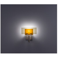 WPT Design DESSY1-AM/FLSN Dessy One 1 Light 11 inch Stainless Steel ADA Wall Sconce Wall Light in Amber, Snow
