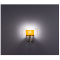 WPT Design DESSY1-AM/FLWH Dessy One 1 Light 11 inch Stainless Steel ADA Wall Sconce Wall Light in Amber, White