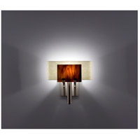 WPT Design DESSY1-RB/CVSN Dessy One 1 Light 11 inch Stainless Steel ADA Wall Sconce Wall Light in Root Beer, Snow