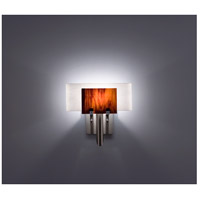 WPT Design DESSY1-RB/CVWH Dessy One 1 Light 11 inch Stainless Steel ADA Wall Sconce Wall Light in Root Beer White
