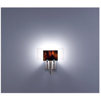 WPT Design DESSY1-RB/FLWH Dessy One 1 Light 11 inch Stainless Steel ADA Wall Sconce Wall Light in Root Beer, White