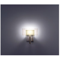 WPT Design DESSY1-SN/FLWH Dessy One 1 Light 11 inch Stainless Steel ADA Wall Sconce Wall Light in Snow, White
