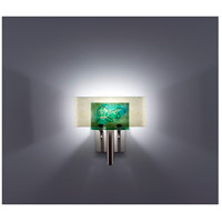 WPT Design DESSY1-WG/CVSN Dessy One 1 Light 11 inch Stainless Steel ADA Wall Sconce Wall Light in Wired Green Snow