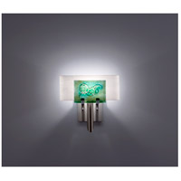 WPT Design DESSY1-WG/CVWH Dessy One 1 Light 11 inch Stainless Steel ADA Wall Sconce Wall Light in Wired Green White