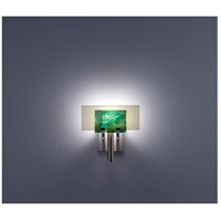 WPT Design DESSY1-WG/FLSN Dessy One 1 Light 11 inch Stainless Steel ADA Wall Sconce Wall Light in Wired Green Snow