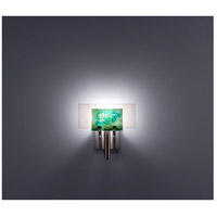 WPT Design DESSY1-WG/FLWH Dessy One 1 Light 11 inch Stainless Steel ADA Wall Sconce Wall Light in Wired Green White