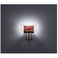 WPT Design DESSY1-WR/FLWH Dessy One 1 Light 11 inch Stainless Steel ADA Wall Sconce Wall Light in Wired Rose, White