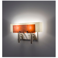 WPT Design DESSY2-AM/CVSN Dessy Two 2 Light 19 inch Stainless Steel ADA Wall Sconce Wall Light in Amber Snow