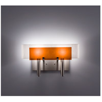WPT Design DESSY2-AM/CVWH Dessy Two 2 Light 19 inch Stainless Steel ADA Wall Sconce Wall Light in Amber White
