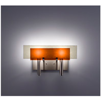 WPT Design DESSY2-AM/FLSN Dessy Two 2 Light 19 inch Stainless Steel ADA Wall Sconce Wall Light in Amber Snow