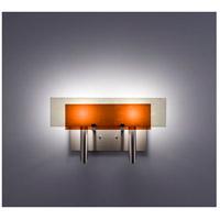 WPT Design DESSY2-AM/FLSN Dessy 2 Light 19 inch Stainless Steel ADA Wall Mount Wall Light in Amber Snow