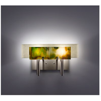 WPT Design DESSY2-MD/CVSN Dessy Two 2 Light 19 inch Stainless Steel ADA Wall Sconce Wall Light in Meadow Snow