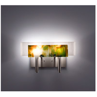 WPT Design DESSY2-MD/CVWH Dessy Two 2 Light 19 inch Stainless Steel ADA Wall Sconce Wall Light in Meadow White