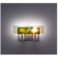 WPT Design DESSY2-MD/FLSN Dessy Two 2 Light 19 inch Stainless Steel ADA Wall Sconce Wall Light in Meadow Snow