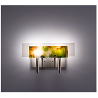 WPT Design DESSY2-MD/FLWH Dessy Two 2 Light 19 inch Stainless Steel ADA Wall Sconce Wall Light in Meadow White