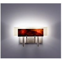 WPT Design DESSY2-RB/CVSN Dessy Two 2 Light 19 inch Stainless Steel ADA Wall Sconce Wall Light in Root Beer Snow