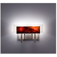 WPT Design DESSY2-RB/CVWH Dessy Two 2 Light 19 inch Stainless Steel ADA Wall Sconce Wall Light in Root Beer White