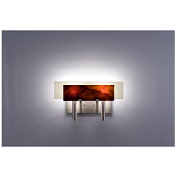 WPT Design DESSY2-RB/FLSN Dessy Two 2 Light 19 inch Stainless Steel ADA Wall Sconce Wall Light in Root Beer Snow