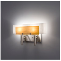 WPT Design DESSY2-TF/CVWH Dessy 2 Light 19 inch Stainless Steel ADA Wall Mount Wall Light in Toffee White