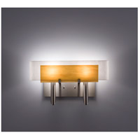 WPT Design DESSY2-TF/CVWH Dessy Two 2 Light 19 inch Stainless Steel ADA Wall Sconce Wall Light in Toffee White