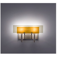 WPT Design DESSY2-TF/FLSN Dessy Two 2 Light 19 inch Stainless Steel ADA Wall Sconce Wall Light in Toffee Snow