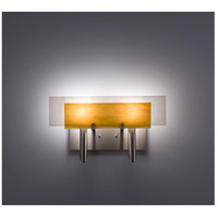 WPT Design DESSY2-TF/FLWH Dessy Two 2 Light 19 inch Stainless Steel ADA Wall Sconce Wall Light in Toffee White