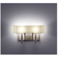 WPT Design DESSY2-WH/CVSN Dessy Two 2 Light 19 inch Stainless Steel ADA Wall Sconce Wall Light in White Snow