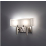 Dessy 2 Light 19 inch Stainless Steel ADA Wall Mount Wall Light in White