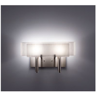 WPT Design DESSY2-WH/CVWH Dessy Two 2 Light 19 inch Stainless Steel ADA Wall Sconce Wall Light in White