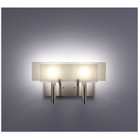 WPT Design DESSY2-WH/FLSN Dessy Two 2 Light 19 inch Stainless Steel ADA Wall Sconce Wall Light in White Snow