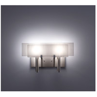 WPT Design DESSY2-WH/FLWH Dessy Two 2 Light 19 inch Stainless Steel ADA Wall Sconce Wall Light in White