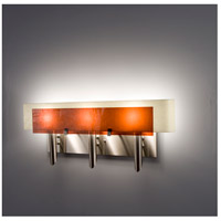 WPT Design DESSY3-AM/CVSN Dessy 3 Light 27 inch Stainless Steel ADA Wall Mount Wall Light in Amber Snow