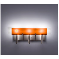 WPT Design DESSY3-AM/FLWH Dessy 3 Light 27 inch Stainless Steel ADA Wall Mount Wall Light in Amber White