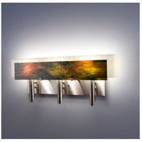 Dessy 3 Light 27 inch Stainless Steel ADA Wall Mount Wall Light in Meadow, Snow