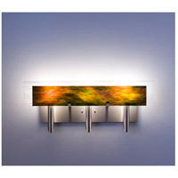 WPT Design DESSY3-MD/FLWH Dessy 3 Light 27 inch Stainless Steel ADA Wall Mount Wall Light in Meadow White