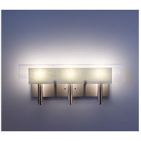 WPT Design DESSY3-SN/FLWH Dessy 3 Light 27 inch Stainless Steel ADA Wall Mount Wall Light in Snow White