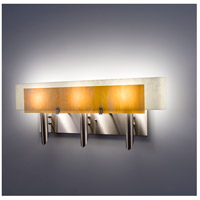 WPT Design DESSY3-TF/CVSN Dessy 3 Light 27 inch Stainless Steel ADA Wall Mount Wall Light in Toffee Snow