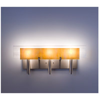 WPT Design DESSY3-TF/FLWH Dessy 3 Light 27 inch Stainless Steel ADA Wall Mount Wall Light in Toffee White