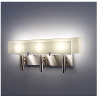 Dessy 3 Light 27 inch Stainless Steel ADA Wall Mount Wall Light in White, Snow