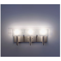 WPT Design DESSY3-WH/FLWH Dessy 3 Light 27 inch Stainless Steel ADA Wall Mount Wall Light in White