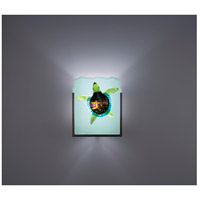 F/N 1 1 Light 8 inch Bronze ADA Wall Mount Wall Light in Green Turtle