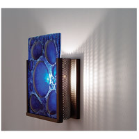 F/N 1 1 Light 8 inch Bronze ADA Wall Mount Wall Light in Half Moon Blue